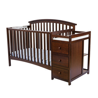 Dream On Me/mia Moda Niko 5 in 1 Convertible Crib with Changer Finish: Espresso