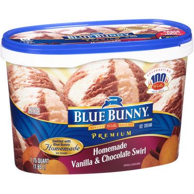 Blue Bunny Premium Ice Cream Homemade Vanilla & Chocolate Swirl