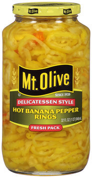 Mt. Olive Hot Banana Pepper Rings 32 fl. oz. Jar