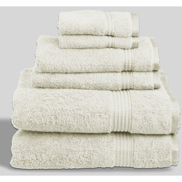 Linen Depot Direct Sandra Venditti Bamboo Rayon 6 Piece Towel Set Color: Ivory
