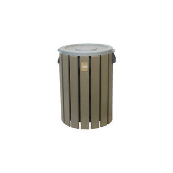 Eagle One Trash Can Dome Top In Black - Brown