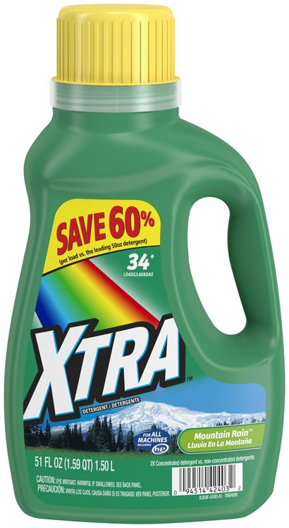 XTRA™ Mountain Rain™ 2x Concentrated Laundry Detergent 51 fl. oz. Jug