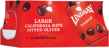Lindsay California Large Ripe Pitted 6 Oz Olives 6 Pk Cans