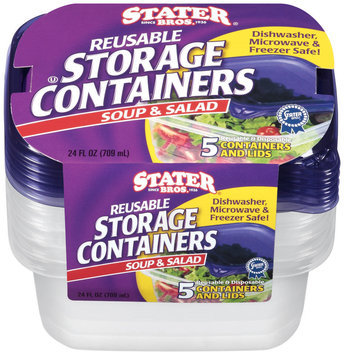 Stater Bros.® Reusable Storage Containers Soup & Salad 5 ct.