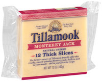 Tillamook® Monterey Jack Cheese Slices 12 oz. Pack