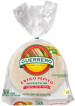Guerrero® Estilo Pepito® White Corn Tortillas 30 ct Bag