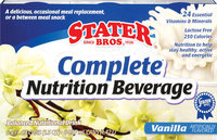 Stater Bros. Vanilla 8 Oz Complete Nutrition Beverage 6 Pk Cans