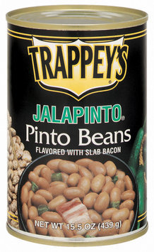 Trappey's Flavored W/Slab Bacon Jalapinto Pinto Beans 15.5 Oz Can