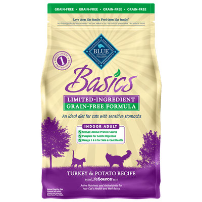 THE BLUE BUFFALO CO. BLUE™ Basics® Grain-Free Indoor Turkey & Potato Recipe For Adult Cats