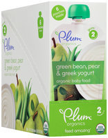 Plum Organics® Stage 2 Green Bean, Pear & Greek Yogurt Organic Baby Food 6-3.5 oz. Pouches