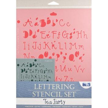 Blue Hills Studio Alvin and Co. Tea Party Letters Stencil Set