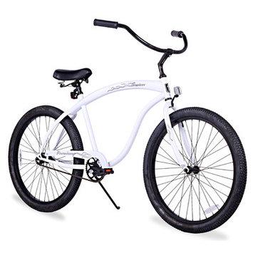 Firmstrong Men's Bruiser Beach Cruiser Bike Frame Color: White