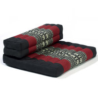 My Zen Home Dhyana Meditation Cushion Color: Black / Red