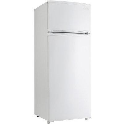 Danby Designer Series DPF074B1WDB 8.76 cu. ft. Counter-Depth Top-Freezer Refrigerator with 3 Adjustable Glass Shelves, 4 Door Bins, Produce Crisper and 1 Wire Freezer Shelf