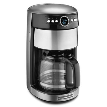 KitchenAid KCM1402CU 14 Cup Glass Carafe Coffee Maker - Contour Silver