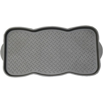 Mohawk Home Black Rectangular Door Mat (Common: 15-in x 26-in; Actual: 15-in x 29.5-in) RG618-221-15X29.5