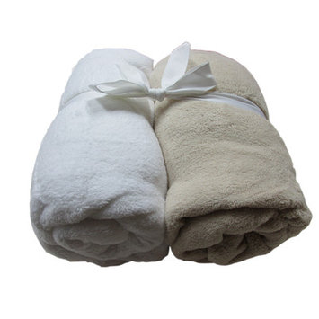 Cozy Fleece Microplush Fitted Crib Sheet Color: Tan/White