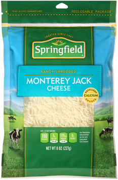 Springfield® Fancy Shredded Monterey Jack Cheese 8 oz. Bag