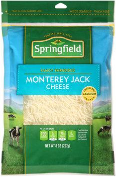 Springfield® Fancy Shredded Monterey Jack Cheese 8 oz. Bag