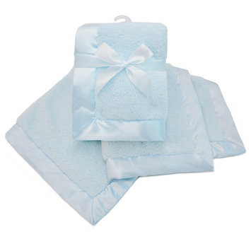 American Baby Company Sherpa Receiving Blanket Color: Blue