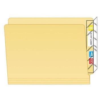 Tabbies Protector, End Tab Folder, 8x2, Clear, 100/PK