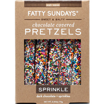 Fatty Sundays Sprinkle Dark Chocolate Covered Pretzels