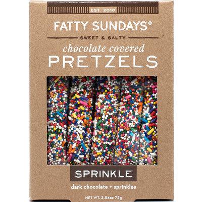 Fatty Sundays Sprinkle Dark Chocolate Covered Pretzels