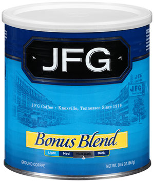 JFG® Bonus Blend® Ground Coffee 30.6 oz. Canister