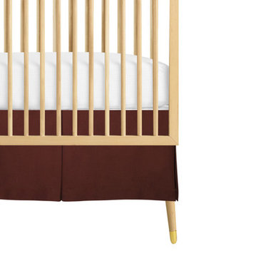 Babee Talk Organic Eco-Chic Crib Skirt Color: Brown
