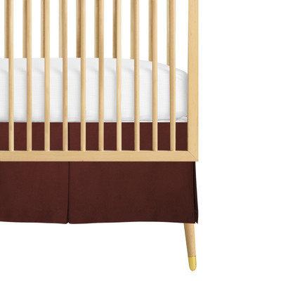Babee Talk Organic Eco-Chic Crib Skirt Color: Brown
