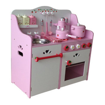 Merske Llc Berry Toys My Strawberry Wooden Play Kitchen
