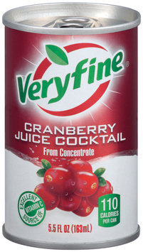 Veryfine Cranberry from Concentrate Juice Cocktail 5.5 Oz Can