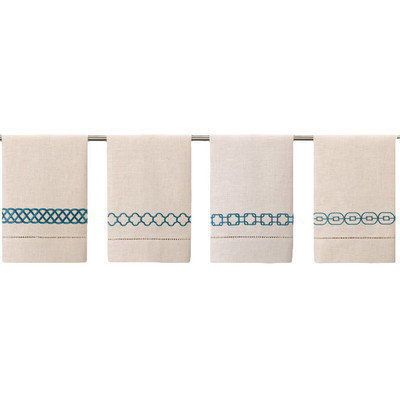 D.l. Rhein Guest Towels (Set of 4) Color: Peacock