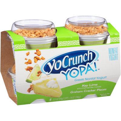 YoCrunch® YOPA!™ Key Lime with Graham Cracker Pieces Greek Nonfat Yogurt 4-3.5 oz. Cups