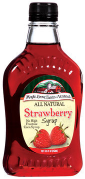 Maple Grove Farms Strawberry Syrup 8.5 Oz Glass Bottle