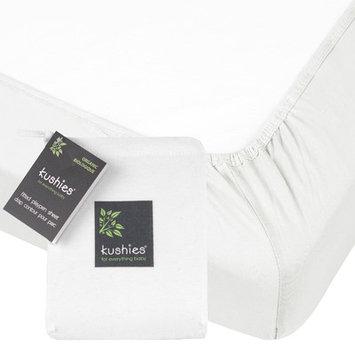 Kushies Organic Jersey Fitted Crib Sheet - White