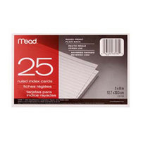 Meadwestvaco CARDS INDEX RULED 5 X 8 25 CT