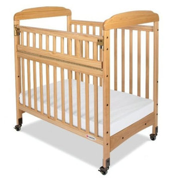 Foundations Serenity SafeReach Mirror End Compact Crib - Natural