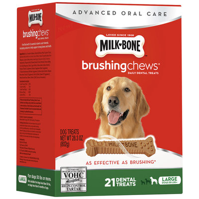 Milk-Bone Brushing Chews Daily Dental Treats - Large - 28.3 ounce - 21 Bones