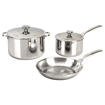 Le Creuset Tri-Ply 5 pc. Stainless Steel