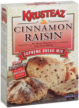 Krusteaz Supreme Cinnamon Raisin Bread Machine Mix 21 Oz Box