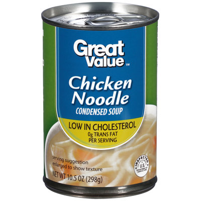 Great Value Reduced Sodium Chicken Noodle Condensed Soup, 10.5 oz