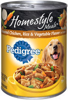 Pedigree® Home Style Meals™ Roasted Chicken, Rice & Vegetable Flavor in Gravy Dog Food