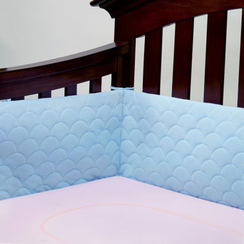 Ubimed Lifenest Breathable Padded Mesh Crib Bumper - Blue