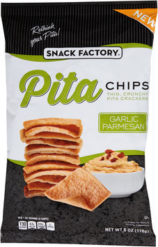 Snack Factory® Garlic Parmesan Pita Chips 6 oz. Bag