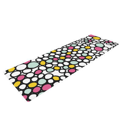 Kess Inhouse Pebbles by Emine Ortega Yoga Mat Color: Pink