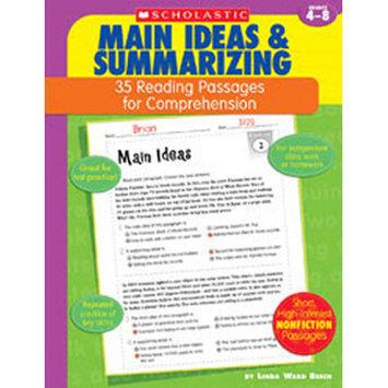 Scholastics Teacher Scholastic Comprehension - Main Idea - Grades 4-8
