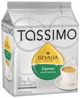 Tassimo Gevalia Espresso Decaf  Coffee 16 Ct Bag