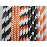 Creative Juice Cafe Paper Straw Mix Color