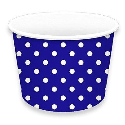 LolliZ Treat Cups 8Oz Polka Dots-Bright Blue 12 Pcs